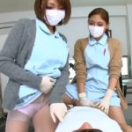 2 JAPANESE NURSES IN LATEX GLOVES TEASING PATIENT - COVID JAV